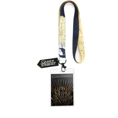 Crowded Coop, LLC Game of Thrones Iron Throne Lanyard w/ PVC Charm
