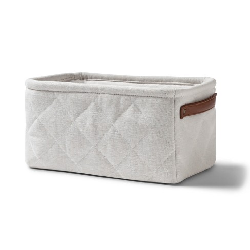 Quilted Linen Like Tote - Cloud Island™ White - image 1 of 1