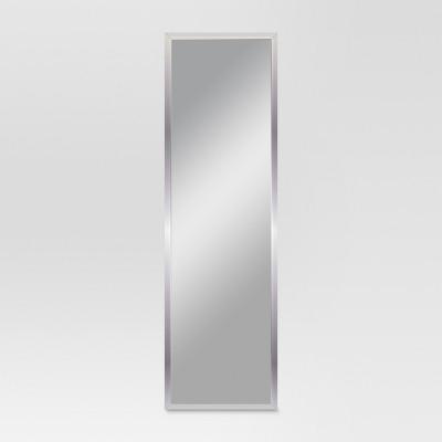 Rectangle Framed Leaner Floor Mirror Silver - Threshold™