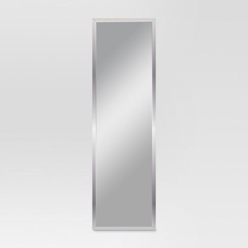 Rectangle Framed Leaner Floor Mirror Silver Threshold