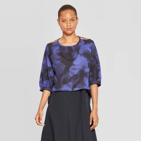 Women's Crew Neck 3/4 Sleeve Blouse - Prologue™ - image 1 of 3