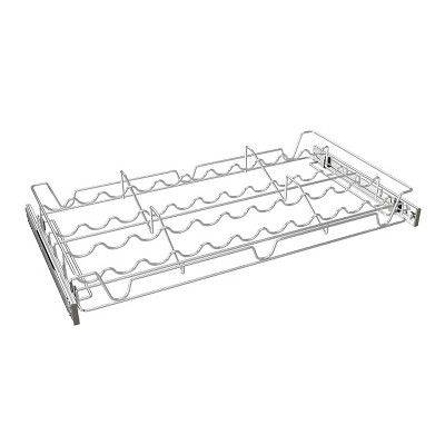 Rev-A-Shelf Sidelines 5WSCR-24CR-1 24 Inch Chrome Wire Pullout Sliding Spice or Can Organizer Rack Shelf for 14 Inch Deep Kitchen Pantry Cabinet