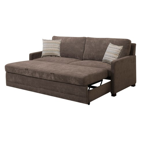 Shelby Queen Size Sleeper Sofa in Brown - Serta