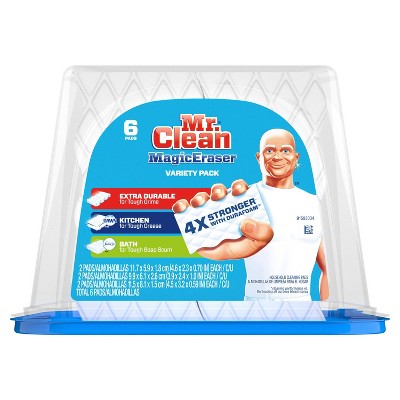 Mr. Clean Variety Pack Assortment Magic Eraser Cleaning Pads 6 ct