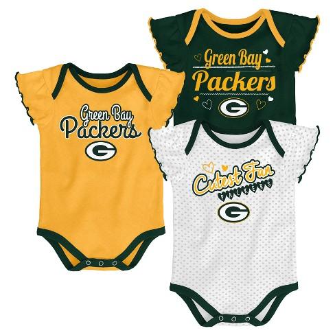 902eb6b829af NFL Green Bay Packers Girls  Newest Fan 3pk Bodysuit Set   Target