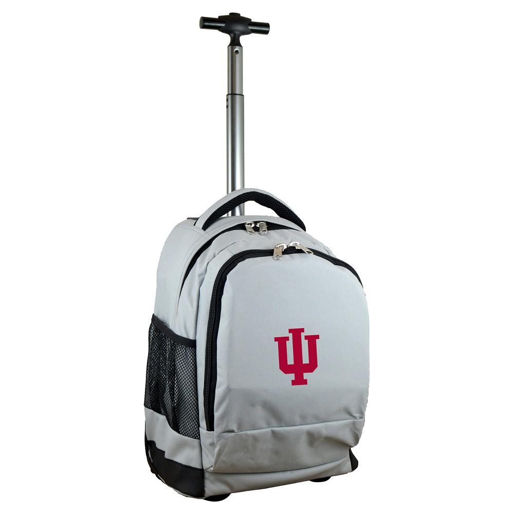 NCAA Indiana Hoosiers Gray Premium Wheeled Backpack