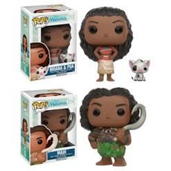 Funko Disney Princess Moana: POP! Disney Collectors Set; Princess Moana & Pua, Maui