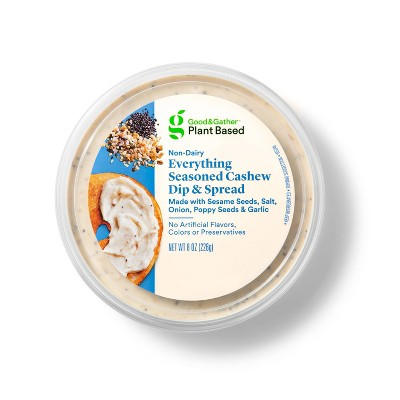 Everything Seasoned Cashew Plant Based Dip + Spread - 8oz - Good & Gather™
