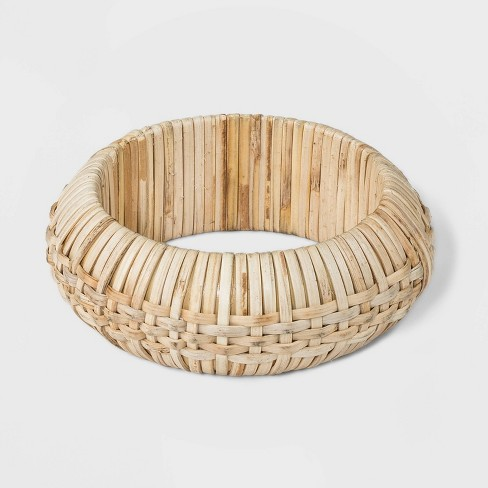 Thick Woven Straw Bangle Bracelet - A New Day™ Natural - image 1 of 1
