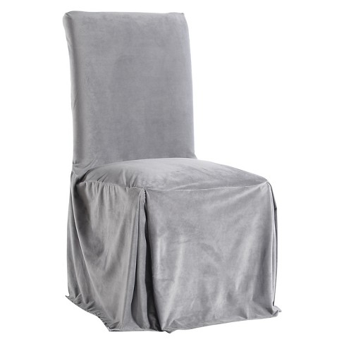 Superb Microfiber Velvet Dining Chair Slipcover Frankydiablos Diy Chair Ideas Frankydiabloscom