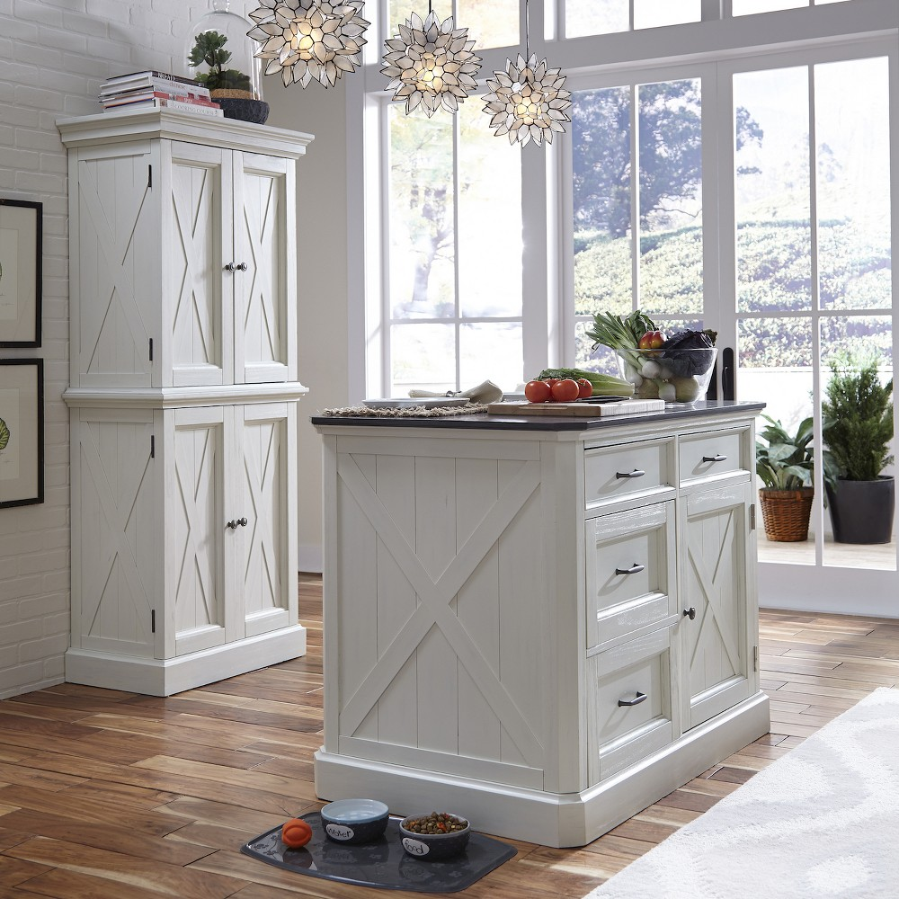 Seaside Lodge Kitchen Island White - Home Styles
