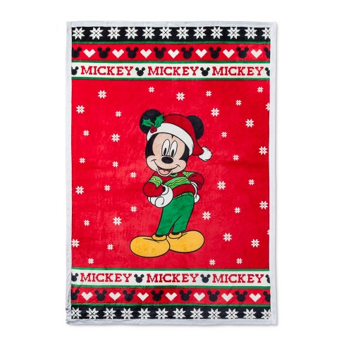 Mickey Mouse & Friends Mickey Mouse Red Bed Blankets (Full/Queen) - image 1 of 2
