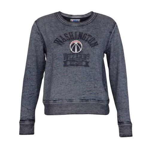 NBA Washington Wizards Women's Retro Sport Burnout Crew Neck Sweatshirt - image 1 of 2