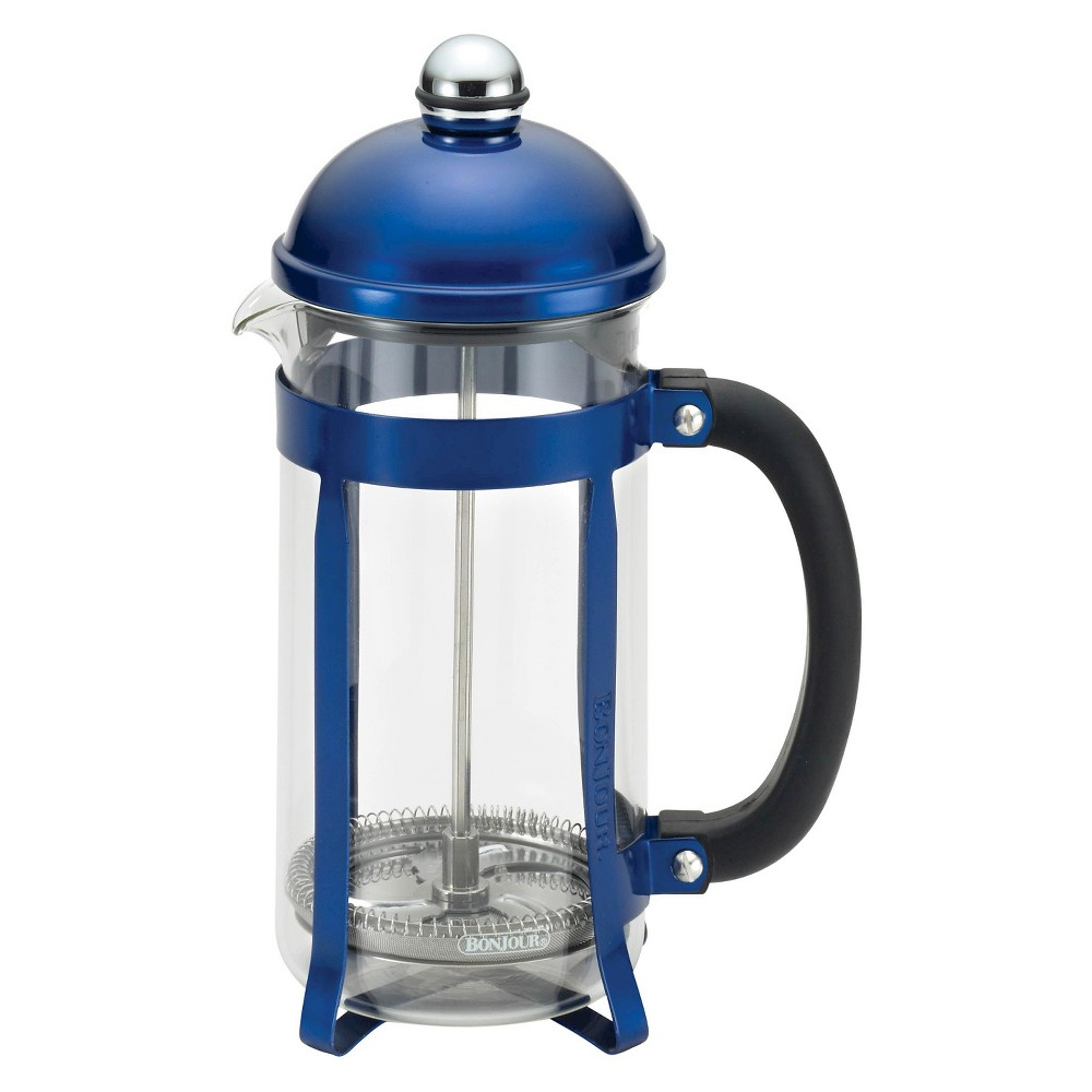 Bonjour 8-Cup Maximus French Press Blue