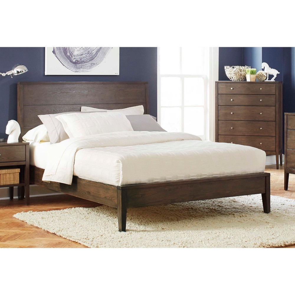 Queen Stacy Platform Bed Ash Brown - Private Reserve