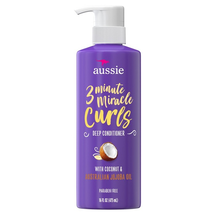 Aussie Paraben-Free Miracle Curls 3 Minute Miracle Conditioner With Coconut For Curly Hair - 16.0 Fl Oz : Target