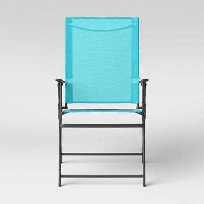 Sling Folding Patio Chair Blue - Room Essentials™