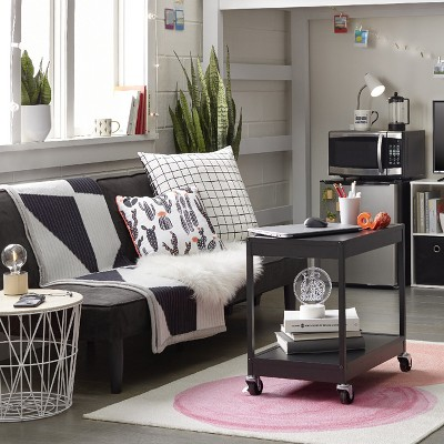 Dorm Room Living Room With Black Pink Accents Collection