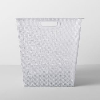 "Deep Metal Sweater Bin 12.75""W X 12.75""D X 12.75""H - White - Made By Design™"
