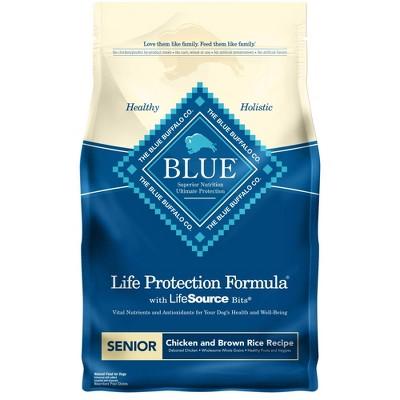 Blue Buffalo Life Protection Chicken & Brown Rice Recipe Senior Dry Dog Food