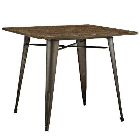 "Alacrity 36"" Square Wood Dining Table Brown - Modway - image 1 of 4"