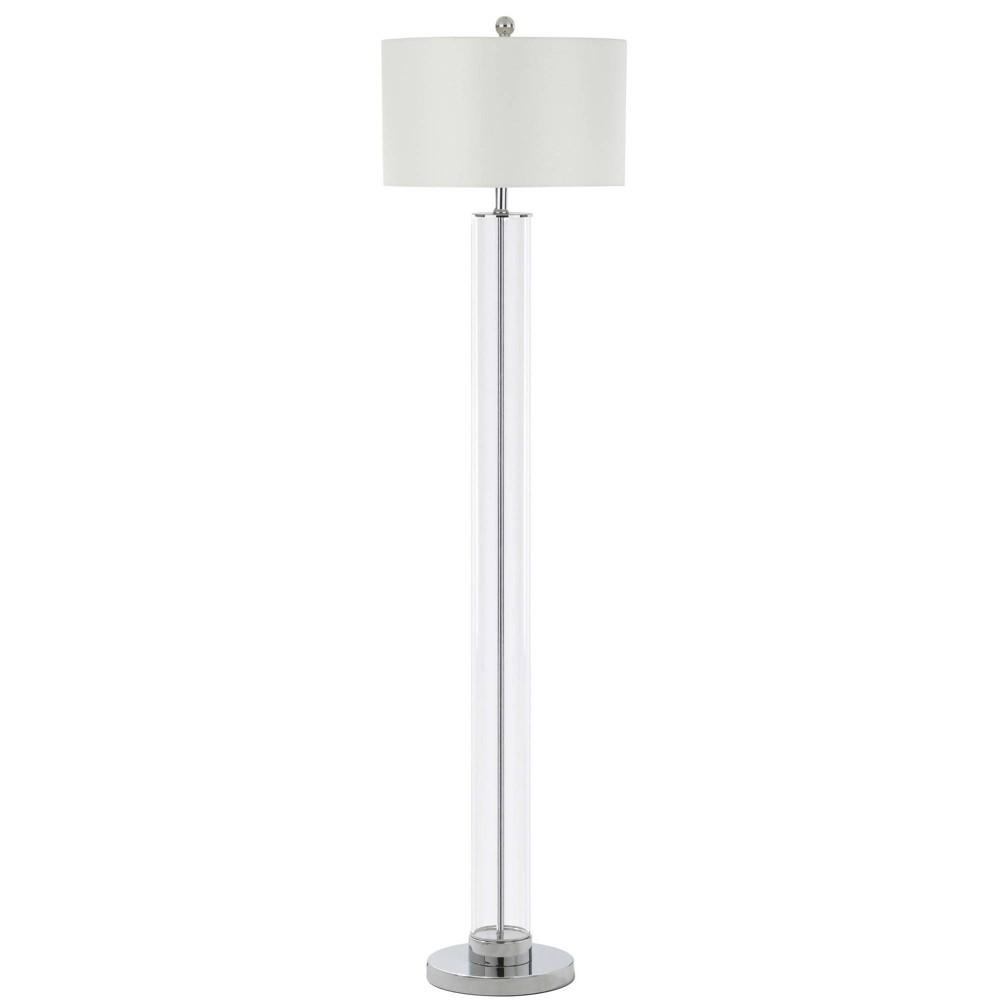 Lovato 64H Floor Lamp Clear (Includes Energy Efficient Light Bulb) - Safavieh