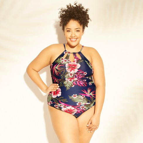78045a96fa284 Women s Plus Size Keyhole Strap One Piece Swimsuit - Kona Sol™   Target