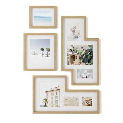 Set of 4 Mingle Gallery PD Multiple Image Frame Light Brown - Umbra