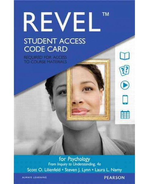 Psychology Revel Access Code : From Inquiry to Understanding (Hardcover) (Scott O. Lilienfeld & Steven - image 1 of 1