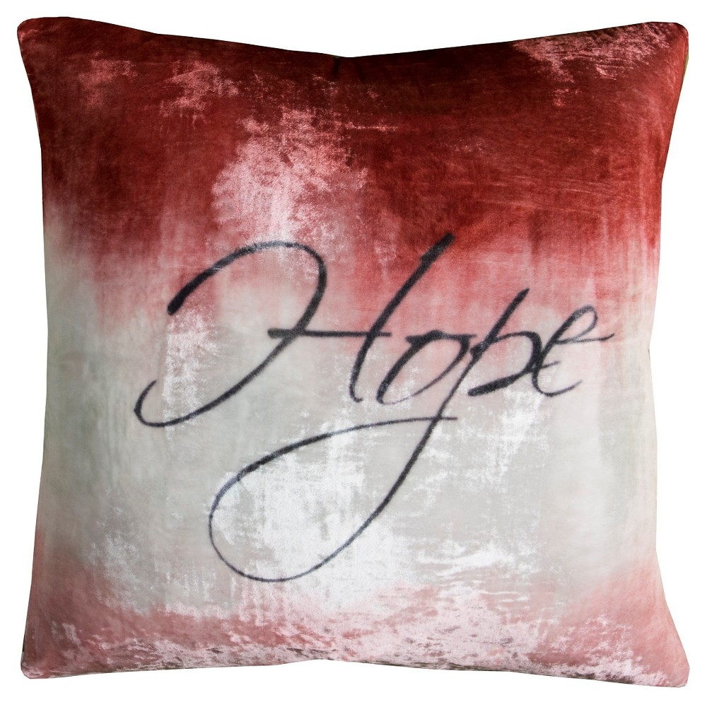Image of Hope Throw Pillow - (20x20) - Rizzy Home, Multi-Colored