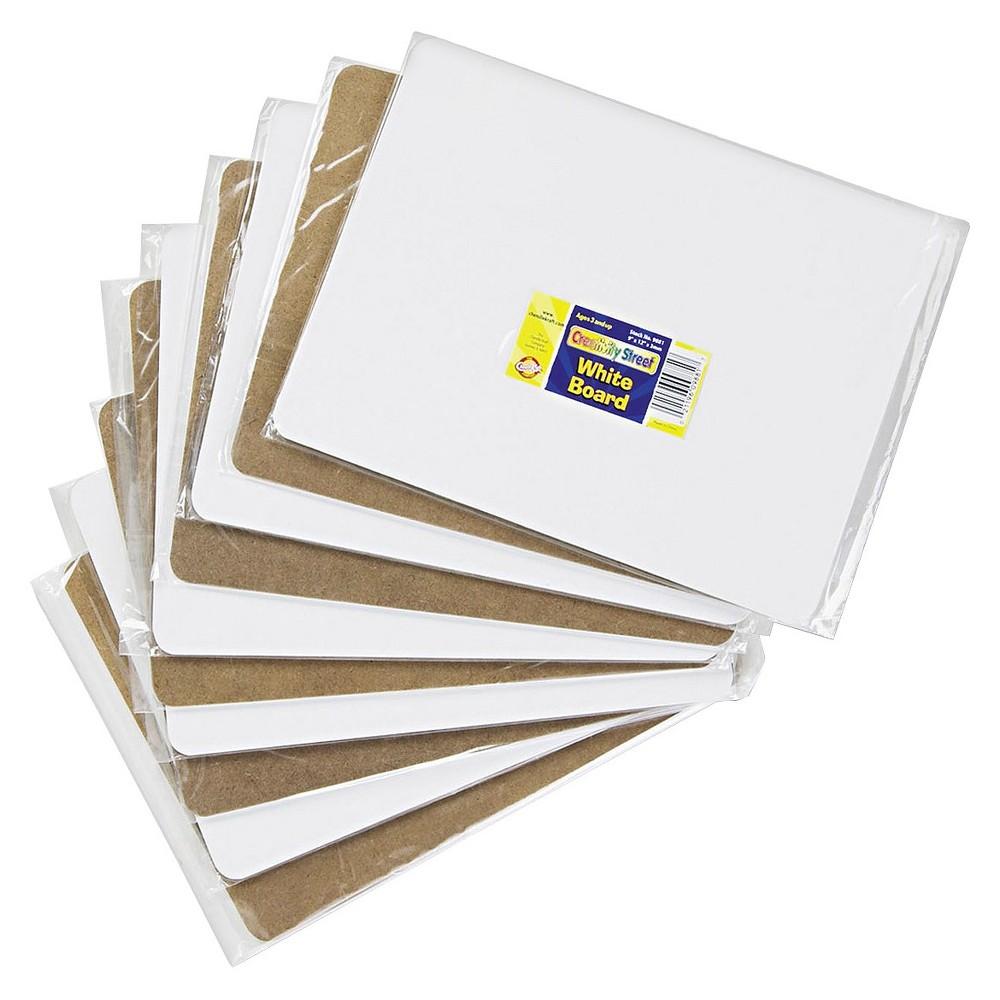 Chenille Kraft 12 x 9 Student Dry-Erase Melamine Boards - White (Set of 10)