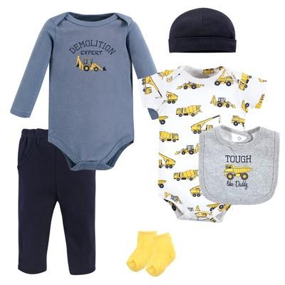 Hudson Baby Infant Boy Cotton Layette Set, Construction