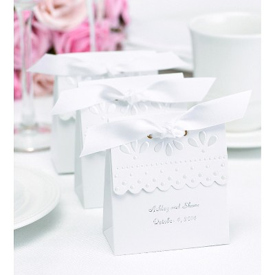 25ct Scalloped Wedding Favor Box  sc 1 st  Target & 25ct Scalloped Wedding Favor Box White : Target
