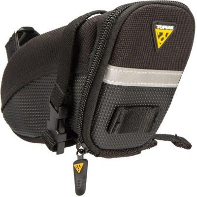 Topeak Aero Wedge Seat Bag: Strap-on Small, Black