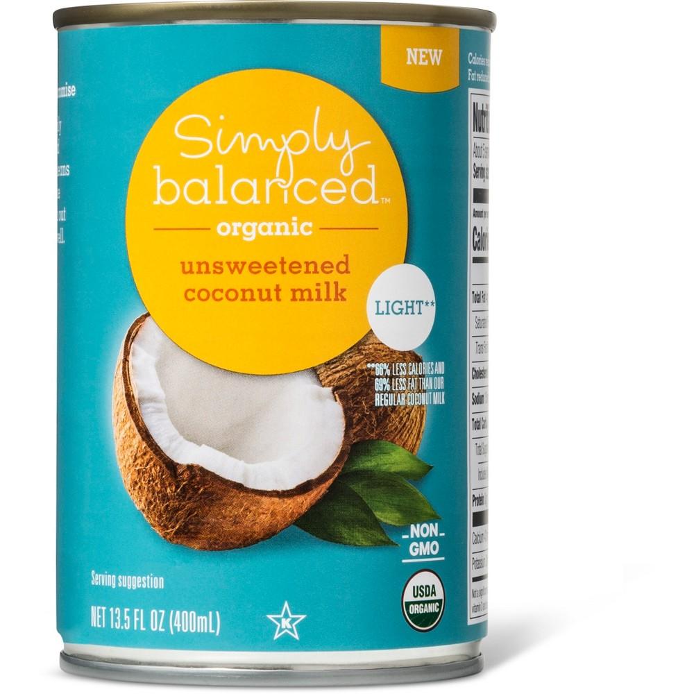 Organic Light Unsweetened Coconut Milk 13.5oz - Simply Balanced