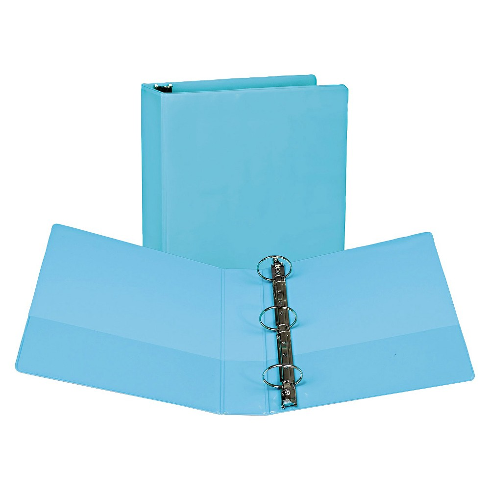 "Image of ""2pk 450 Sheet 2"""" Round Ring Binder Turquoise - Samsill"""