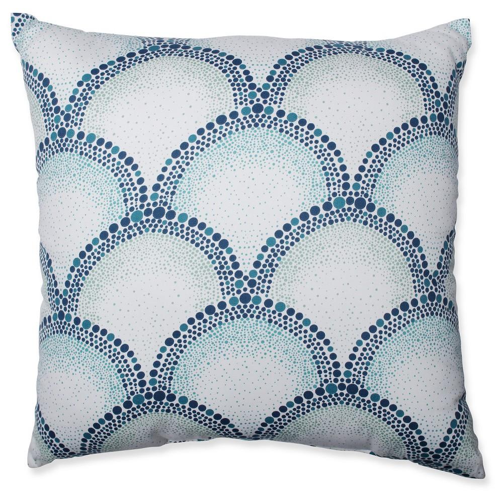 Shelamar Teal Throw Pillow - Pillow Perfect, Blue