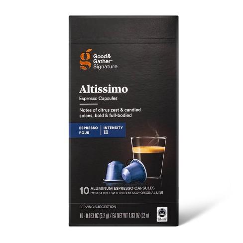 Signature Intenso Espresso Altissimo Pods Espresso Roast Coffee - 10ct - Good & Gather™ - image 1 of 4