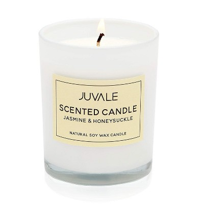 Juvale Soy Wax Scented Candle, Jasmine and Honeysuckle (3.5 x 2.8 Inches)
