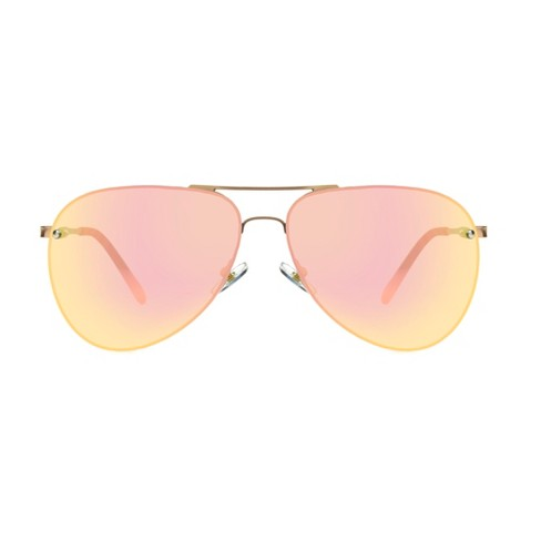 Women's Aviator Sunglasses - A New Day™ Gold Shimmer - image 1 of 2