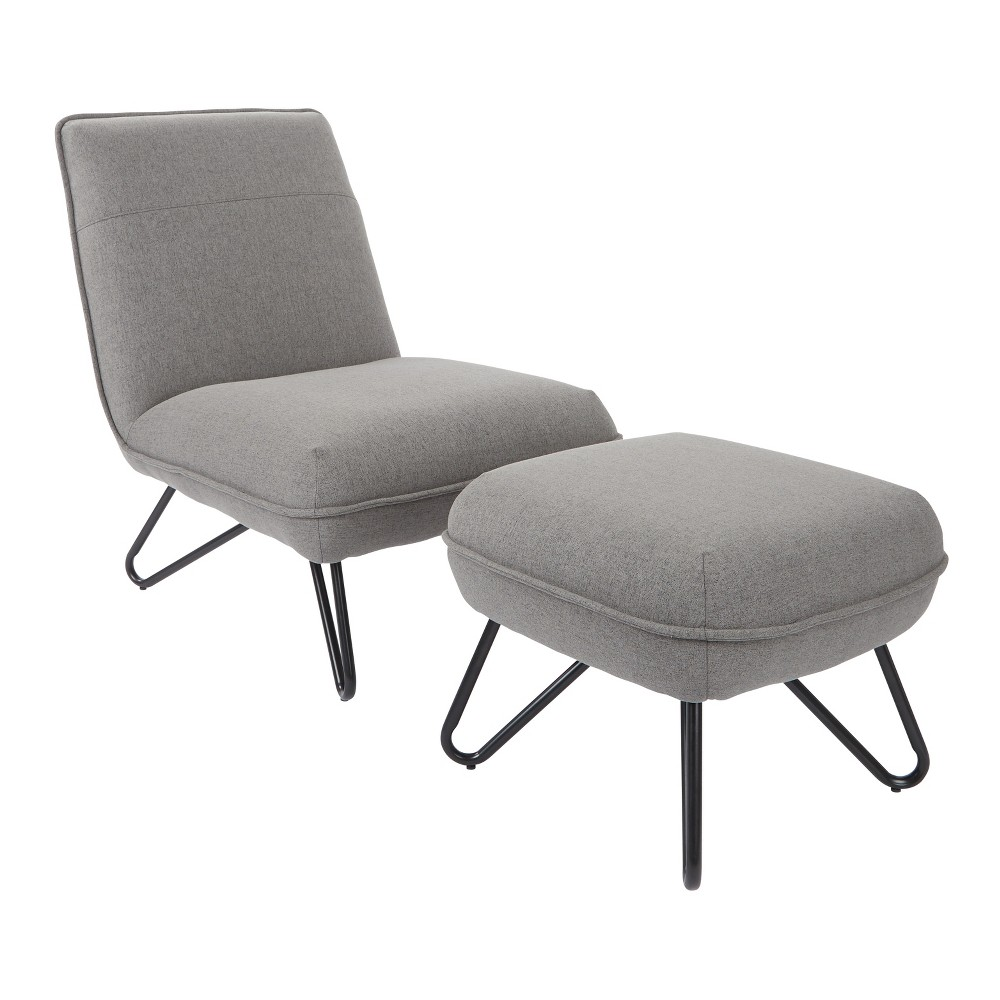 Fine Cortina Chair And Ottoman Gray Ave Six Evergreenethics Interior Chair Design Evergreenethicsorg