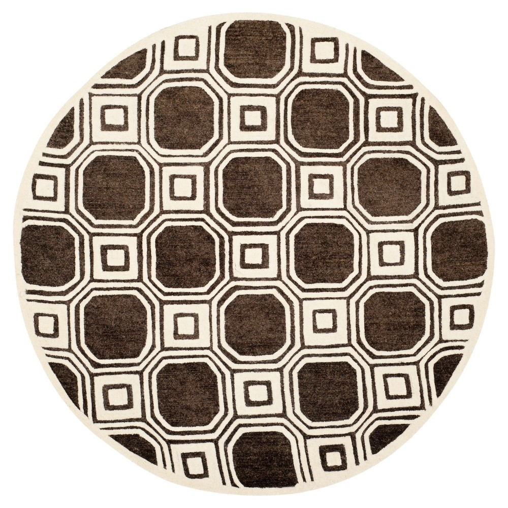 Crawley Area Rug - Charcoal (6' Round) - Safavieh, Black