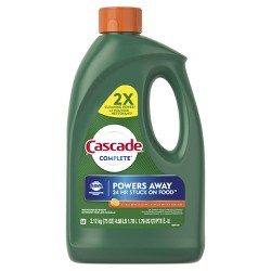 Cascade Complete Dishwasher Detergent Gel with Dawn Grease Fighting Power - Citrus Breeze Scent - 75oz