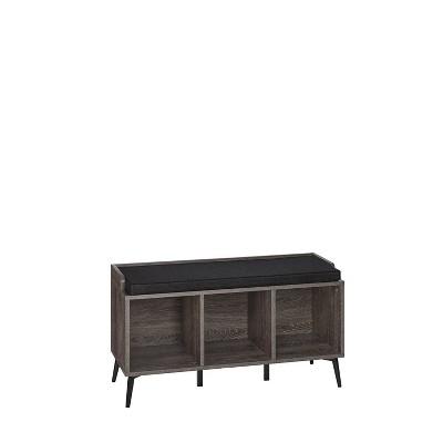 Woodbury Storage Bench with Cubbies Woodgrain - RiverRidge Home
