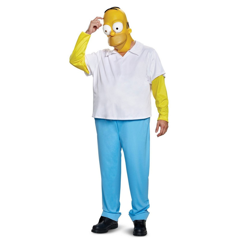 Men's The Simpsons Homer Simpson Halloween Costume Xxl, Multi-Colored