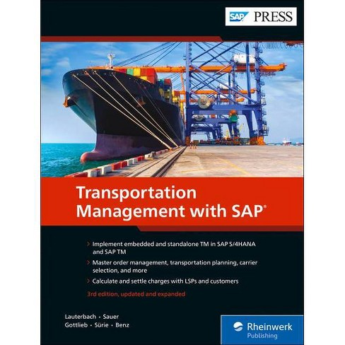 Transportation Management with SAP - 3 Edition (Hardcover) - image 1 of 1