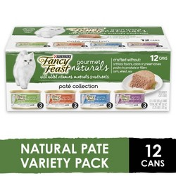 Purina Fancy Feast Gourmet Naturals Pat Collection Gourmet Wet Cat Food - 3oz/12ct Variety Pack