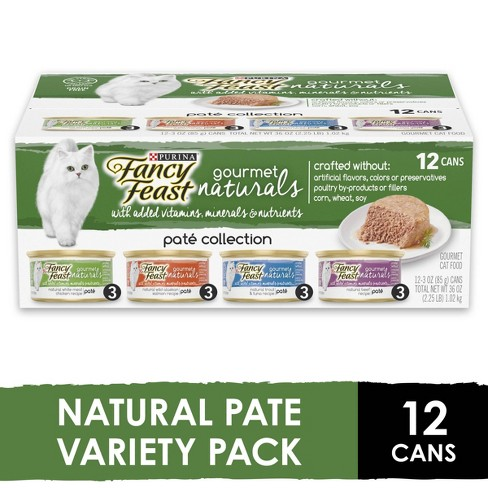 Purina Fancy Feast Gourmet Naturals Pat Collection Gourmet Wet Cat Food - 3oz/12ct Variety Pack - image 1 of 4