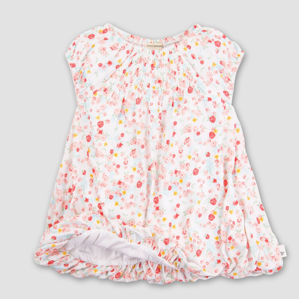 Burt's Bees Baby Toddler Girls' Floral Cap Sleeve Tunic Dress - Multicolored 6X, Girl's, Size: Small was $21.94 now $6.58 (70.0% off)