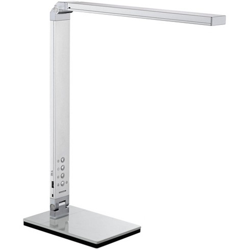 360 Lighting Modern Desk Table Lamp 16 1 2 High With Usb Port And Nightlight Led Silver Touch Dimmer For Bedroom Bedside Office Target